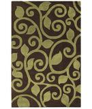 RugStudio presents The Rug Market America Rexford Fogli 44008 Brown/green Hand-Tufted, Good Quality Area Rug